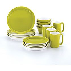 Rachael Ray 16-piece Round and Square Green Dinnerware Set - Overstock™ Shopping - Great Deals on Rachael Ray Casual Dinnerware