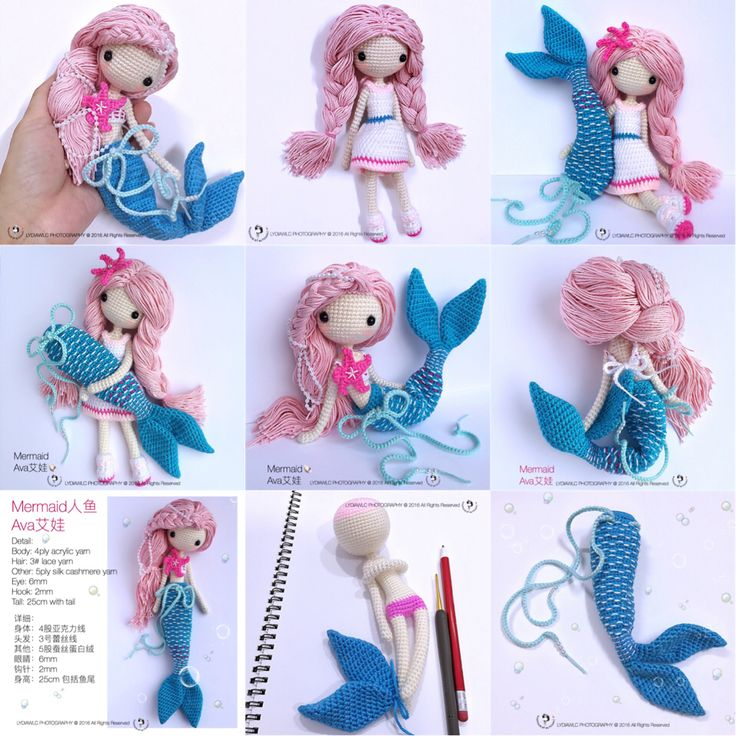 MermaidAva艾娃 pattern PDF is available for sale now. Welcome to my ETSY shop.  https://www.etsy.com/sg-en/listing/462325295/crochet-doll-pattern-mermaid-ava-ai-wa-a