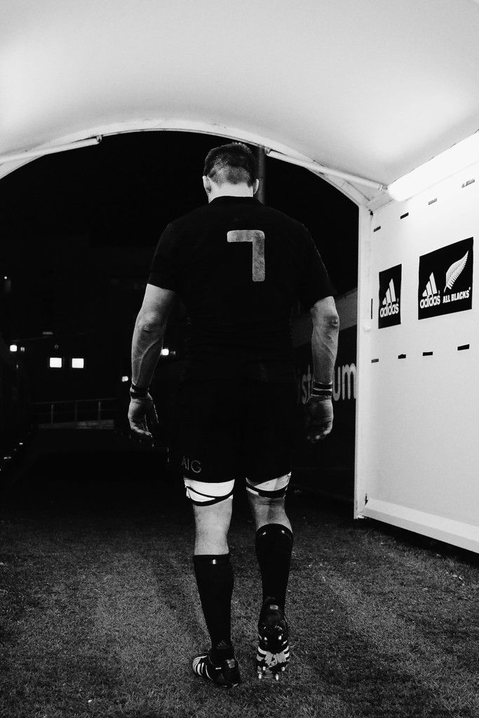 Richie Mccaw Photos Photos - This image has been converted to black and white. No colour version available.) Richie McCaw of the New Zealand All Blacks walks down the tunnel after winning The New Zealand All Blacks passes the ball out during The Rugby Championship match between the New Zealand All Blacks and Argentina at AMI Stadium on July 17, 2015 in Christchurch, New Zealand. - New Zealand v Argentina - The Rugby Championship