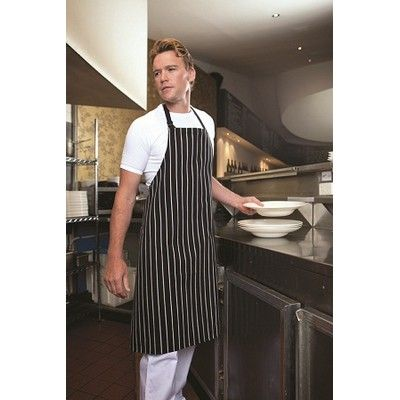 Promo Branded Pocketless Striped Bib Apron Min 25  #Apron #PromotionalProducts - 65/35 Poly Cotton, Free Size, Easy Wash Fabric, Herringbone Adjustable Neck Strap with Slider, Drilled 195grm Dyed Yarn. http://www.promosxchange.com.au/promo-branded-pocketless-striped-apron/p-8565.html