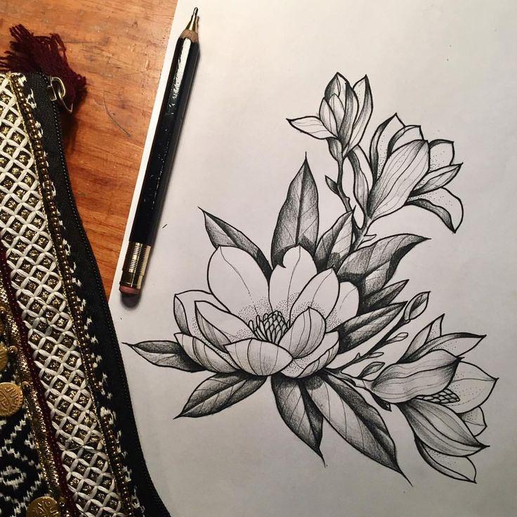 magnolia foot tattoo - photo #34