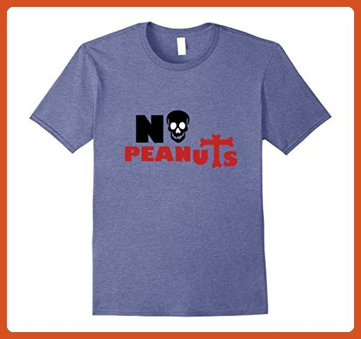 Mens No Peanut t shirt Allergy Epinephrine Tees Food Allergies XL Heather Blue - Food and drink shirts (*Partner-Link)