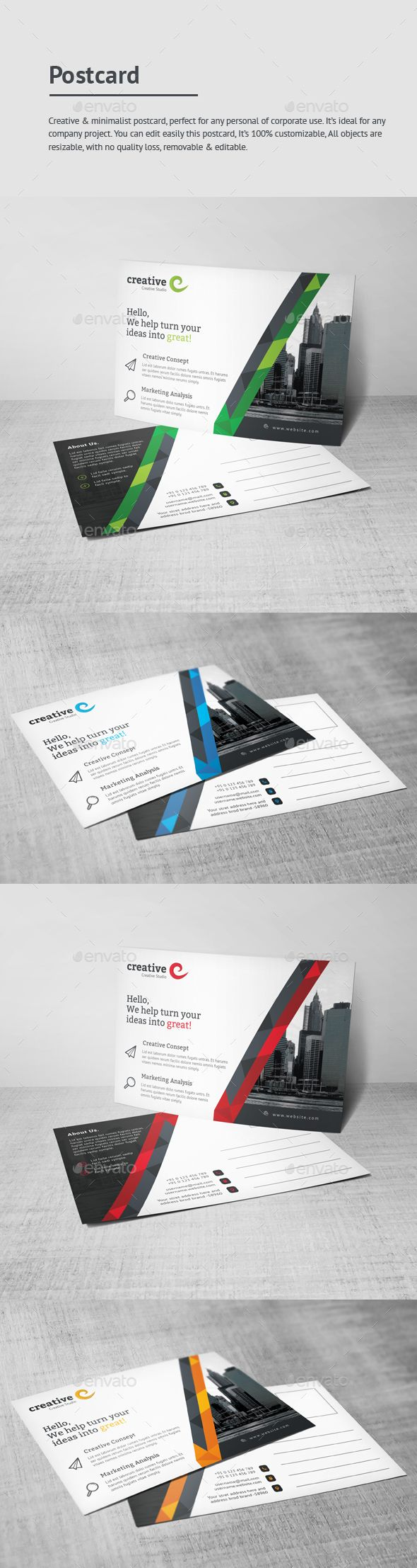 166 best Postcard Templates images on Pinterest | Postcard template ...