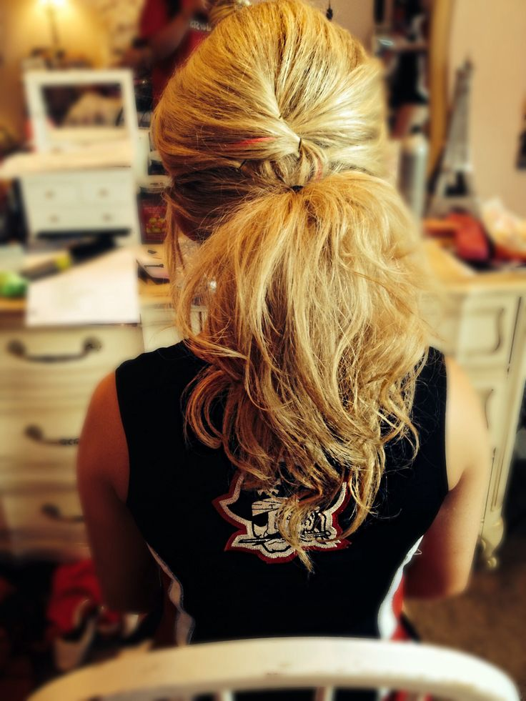 Gameday Hair-Do without the bow.