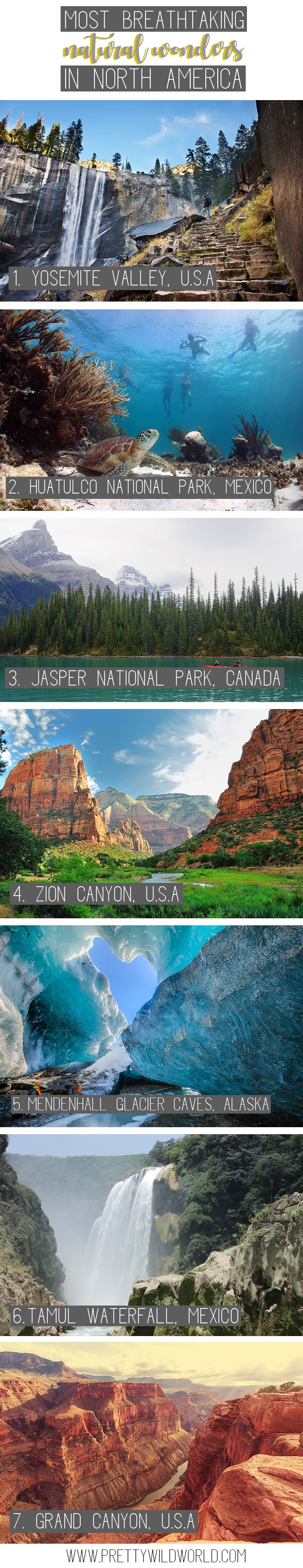 Breathtaking natural wonders in North America