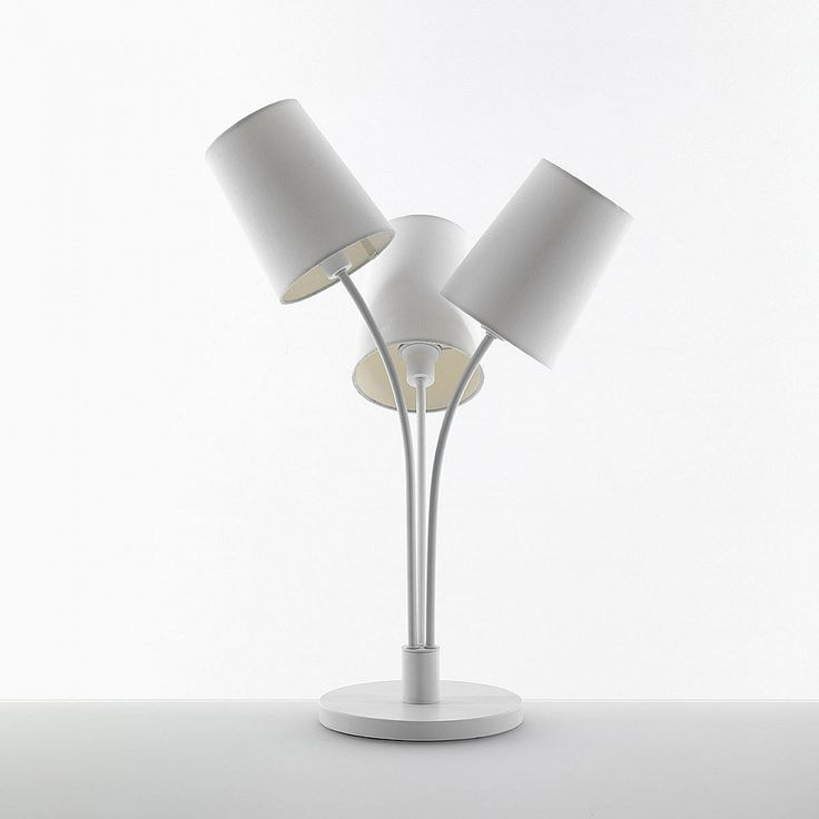 Contemporary design white table lamp Three by Tomasucci