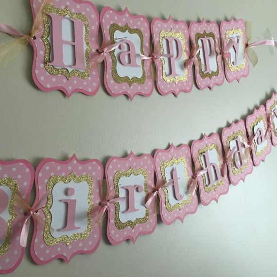 Hey, I found this really awesome Etsy listing at https://www.etsy.com/listing/222319746/pink-and-gold-happy-birthday-banner