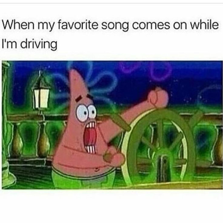 When my favorite song comes on while I'm driving .. Yeeeet turn up!!!!