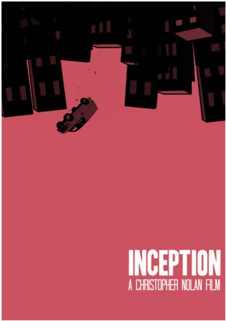 Inception illustrated poster. Via Minimal Movie Posters.
