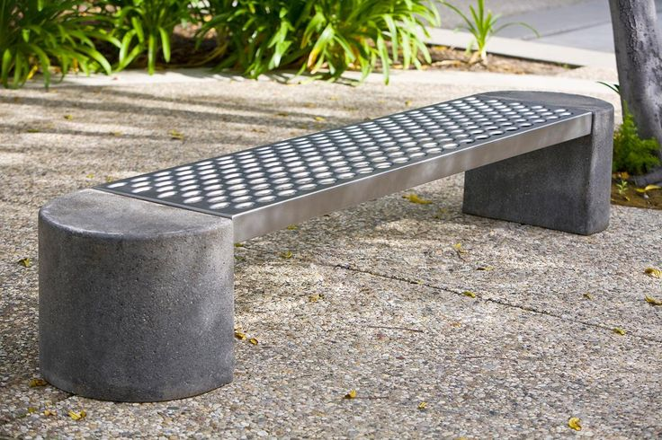Lovely Foundation Bench Shown With Half Round Concrete Ends And Stainless Steel  Seat With Sandstone Finish | HOME | EXTERIOR DÉCOR | Pinterest | Concrete,  ... Amazing Pictures