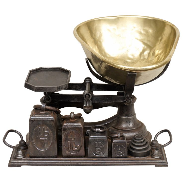 English Grocery Store Scale with complete set of weights | From a unique collection of antique and modern scientific instruments at http://www.1stdibs.com/furniture/more-furniture-collectibles/scientific-instruments/