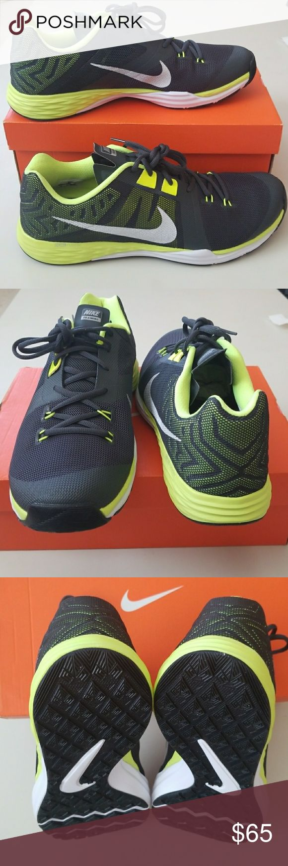 NWT Men's Nike Running Shoes New Nike Dual Fusion training sports shoes. Really cool shoes for Mr. Big Guy😊 Nike Shoes Athletic Shoes