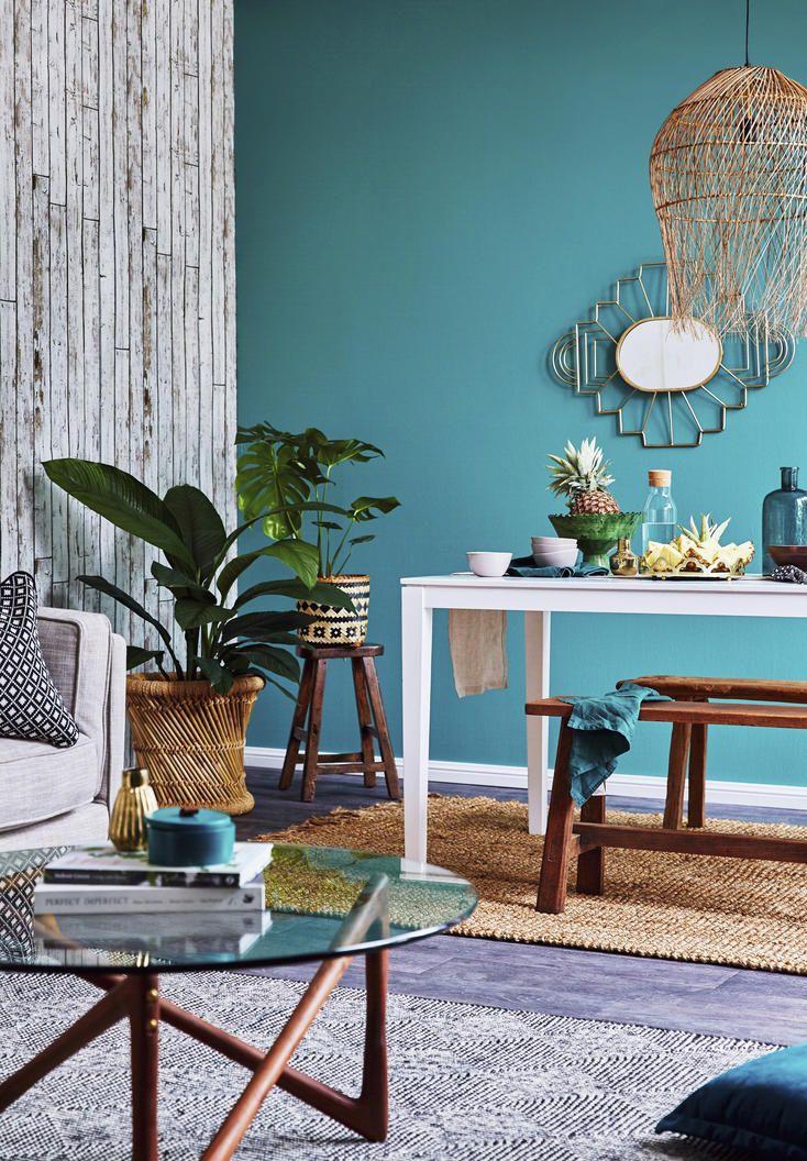 Petrolfarbe Die Trendfarbe Zum Einrichten Das Haus Schoner Wohnen Farbe Wandfarbe Petrol Wandfarbe