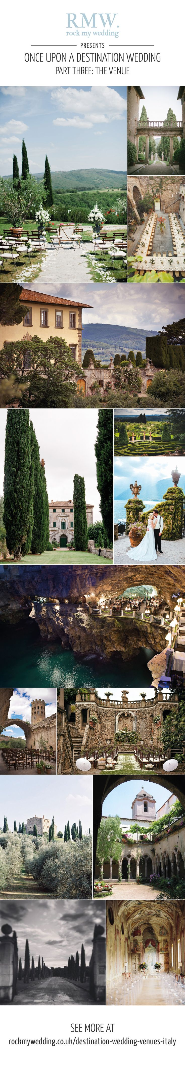 Destination wedding venues in Italy | http://www.rockmywedding.co.uk/destination-wedding-venues-italy/