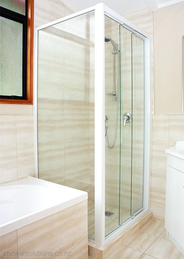Magnificent Three Panel Shower Door Contemporary Shower Room Ideas