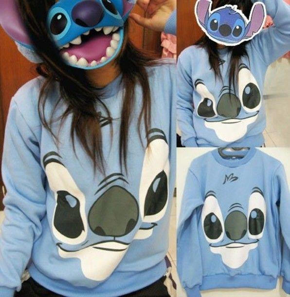 Lilo and Stitch shirt   Shirt: stitch, lilo and stitch, disney, blue - Wheretoget