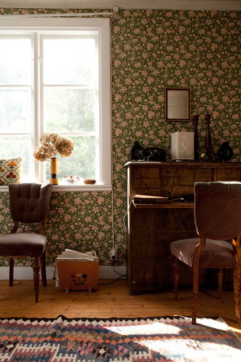 Fine Little Day | Page 2. Chintz floral wallpaper