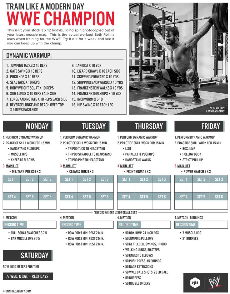 haha this workout, hurl. pinning because i love this layout. typo though, rest days are wed and sun i think