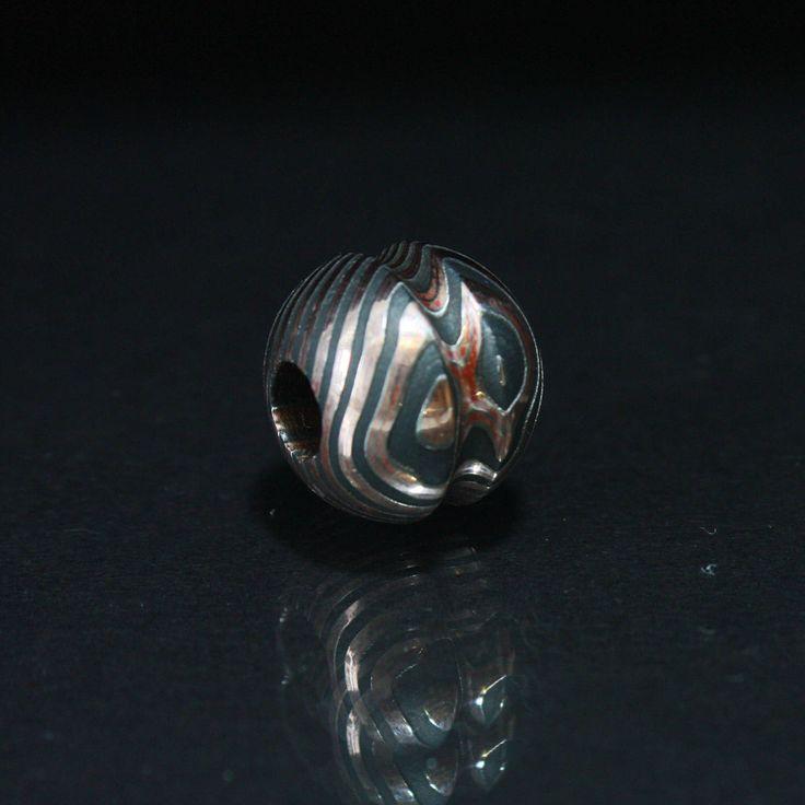mokume gane. bead. lanyard. paracord bracelet. Paracord Beads. Knife. Keychain. EDC. tactical beads. custom bead. Beads. survival bead. by Volderworkshop on Etsy https://www.etsy.com/listing/557033088/mokume-gane-bead-lanyard-paracord