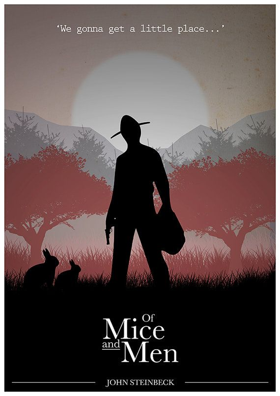 Of Mice and Men poster Quote Poster John Steinbeck by Redpostbox