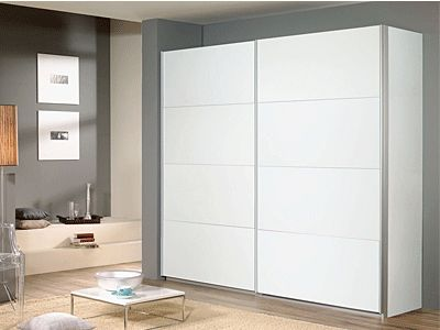 Quartz Sliding Door Wardrobe In White - Warehouse Prestwich - Warehouse Prestwich, Manchester