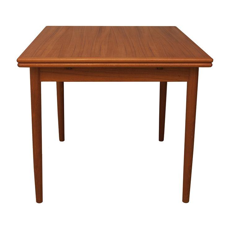 Danish Teak Expanding Leaf Dining Table