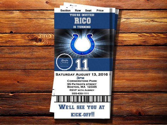 Check out this item in my Etsy shop https://www.etsy.com/listing/457123394/indianapolis-colts-ticket-party