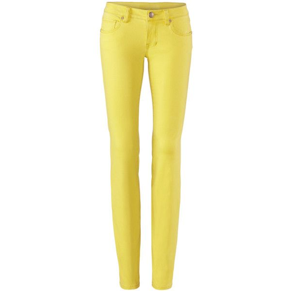 Citron Skinny cabi ❤ liked on Polyvore featuring jeans, super skinny jeans, yellow skinny jeans, cabi, skinny fit jeans and yellow jeans