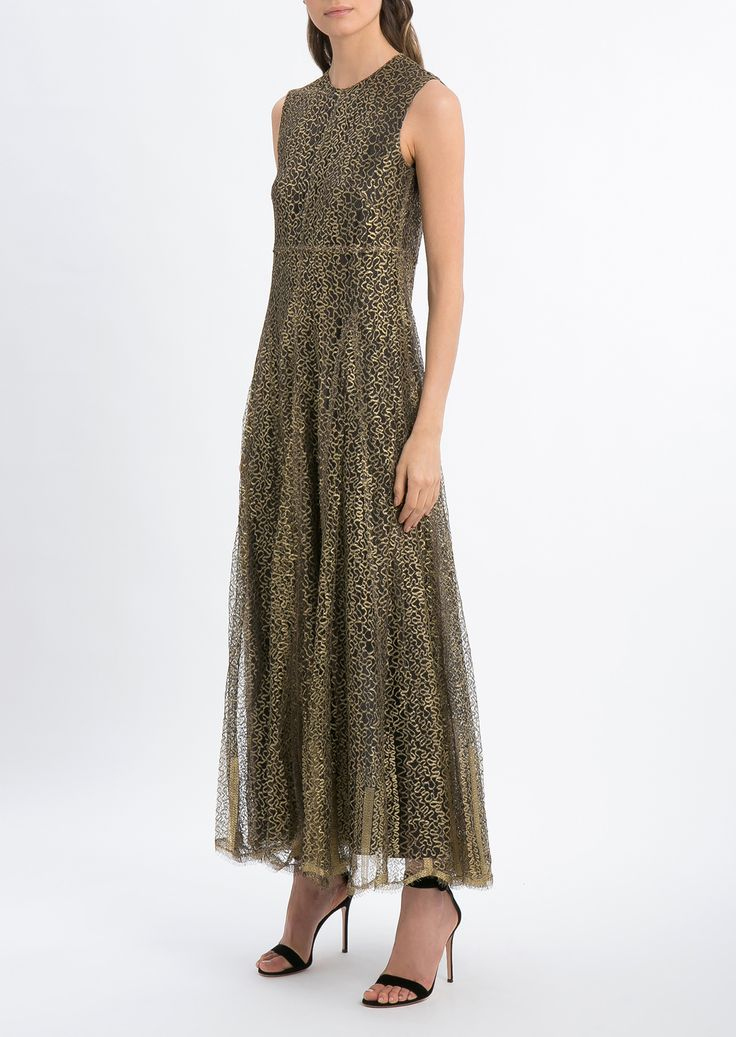 VALENTINO VALENTINO GOLD LACE DRESS. #valentino #cloth #
