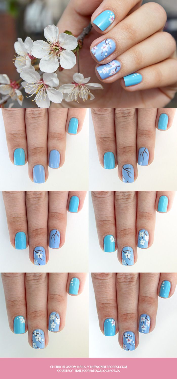 Cherry Blossom Nail Art Tutorial – Wonder Forest