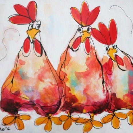 Linker rode kippen