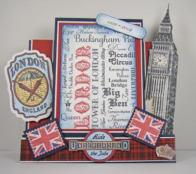 Angela London themed Step card