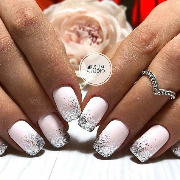 Accurate Nails Glitter Nails Ideas Of Gentle Nails Light Nails Long Nails Manicure 2018 Plain Nails Plain White Nails Plain Nails Long Nails Light Nails