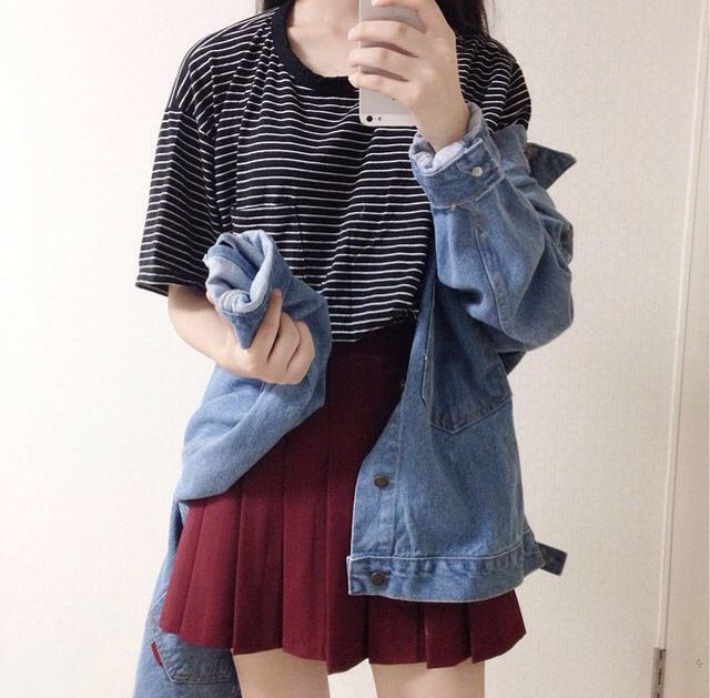 School skirt outfit