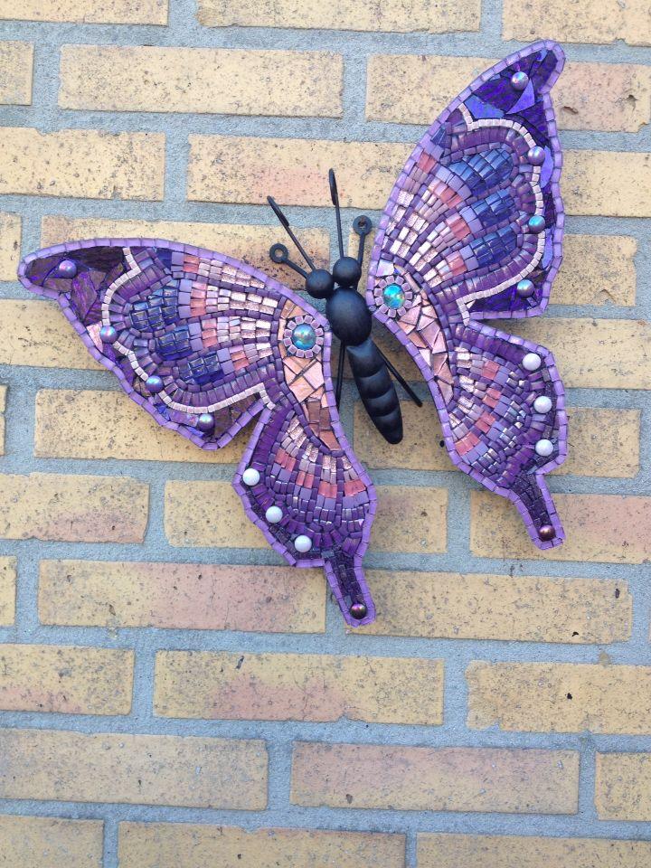 Kleine vlinder roze/paars
