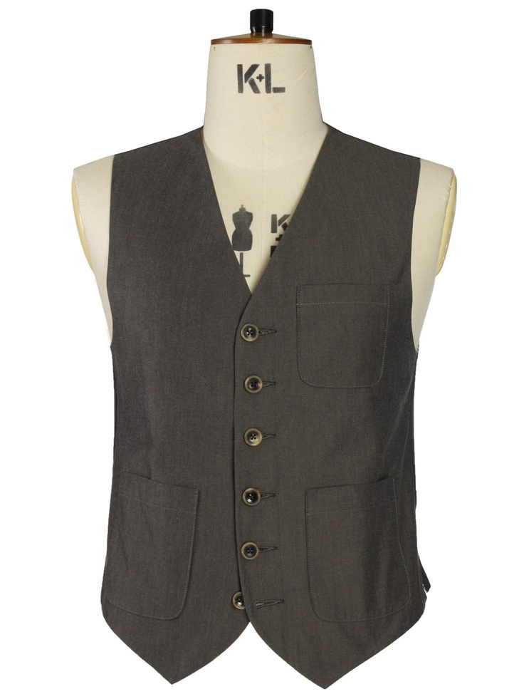 Oliver Spencer Waistcoat Lomax Brown