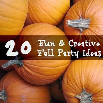 20 Fun and Creative Fall Party Ideas from playpartypin.com, absolutely love idea #4!