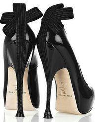 Funky black heels