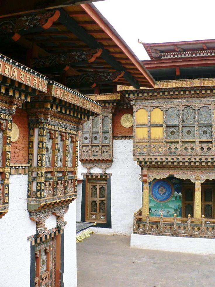 プナカ・ゾンの内部。ブータン 旅行・観光のおすすめスポット!