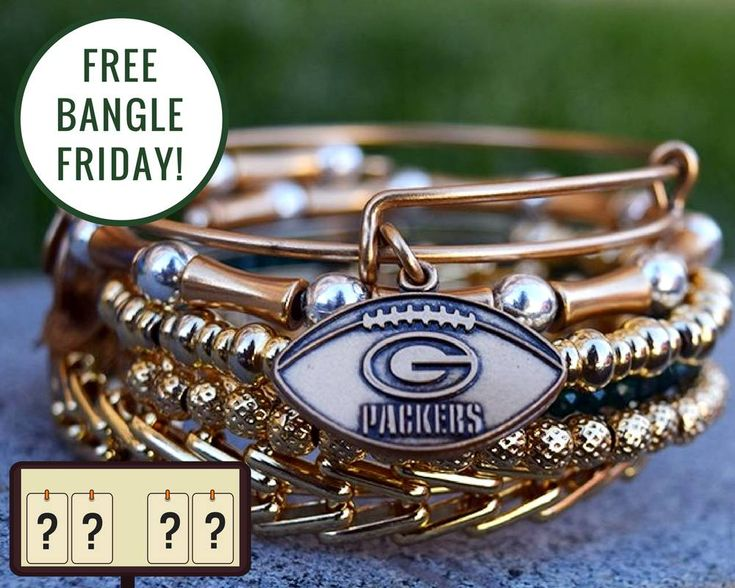"""Congrats to our winner, Jill! - -  - Our Green Bay Packers finally return this weekend... which means we're celebrating the start of their season with a """"Guess-the-Score"""" Free Bangle Friday! On our Facebook post, comment your final score prediction for this Sunday's game featuring the Packers against the Seahawks. All those who guess the score correctly will win a free Alex and Ani bracelet! If no one guesses correctly, we will pick an entrant at random. Contest ends 9/8/17."""