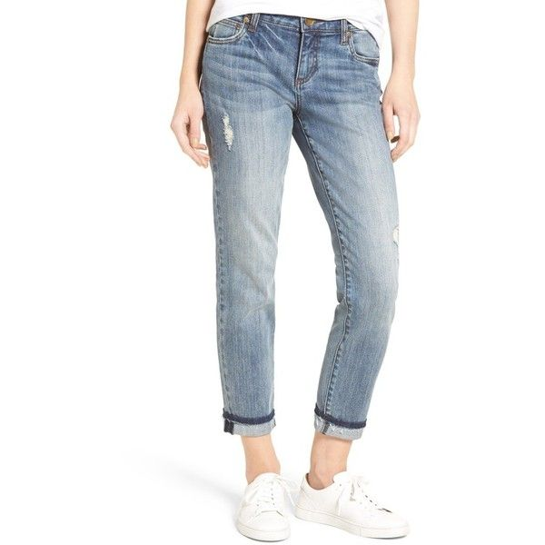 Women's Kut From The Kloth Uma Stretch Boyfriend Jeans ($53) ❤ liked on Polyvore featuring jeans, endearing, faded jeans, kut from the kloth boyfriend jeans, super stretch jeans, kut from the kloth jeans and boyfriend fit jeans