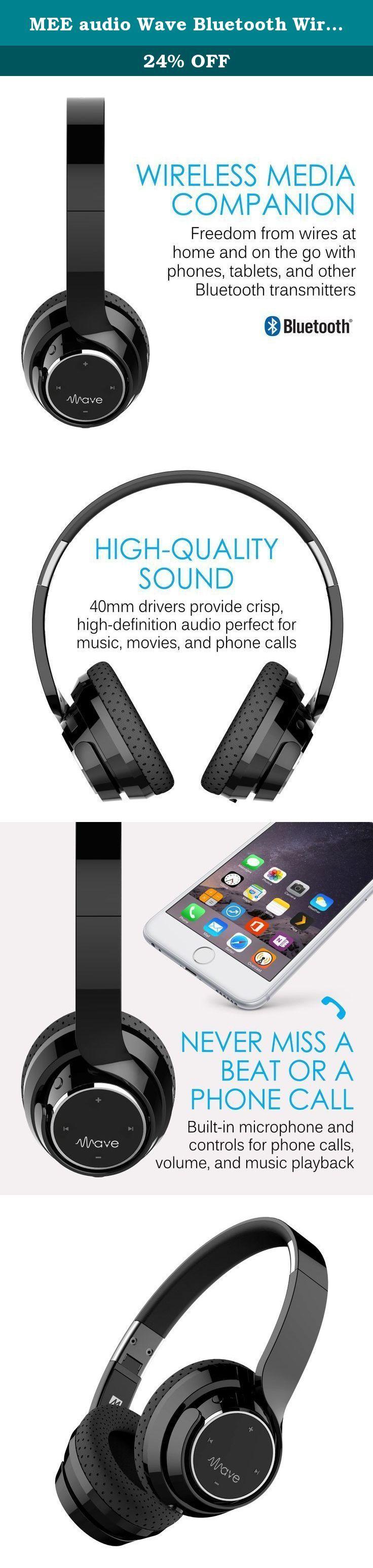 MEE audio Wave Bluetooth Wireless On-Ear Headphones with Headset Functionality. MEE audio Wave Bluetooth Wireless On-Ear Headphones with Headset Functionality. Black.