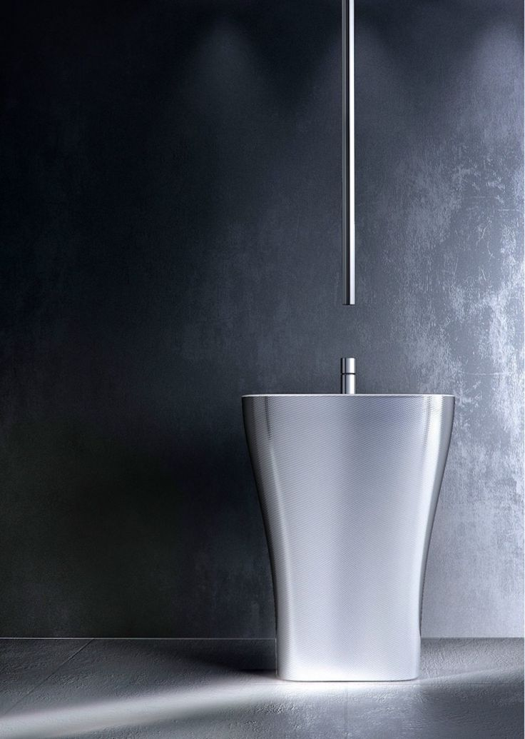Chrome-plated ceiling mounted single handle washbasin mixer NOMOS GO by FIMA Carlo Frattini ➤To see more Luxury Bathroom ideas visit us at www.luxurybathrooms.eu #luxurybathrooms #homedecorideas #bathroomideas @BathroomsLuxury
