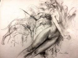 Devour Sketch - Pencil on paper, 21/29cm