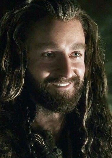 This is one of the few times Thorin smiles. I love this part with him and Bilbo! XD