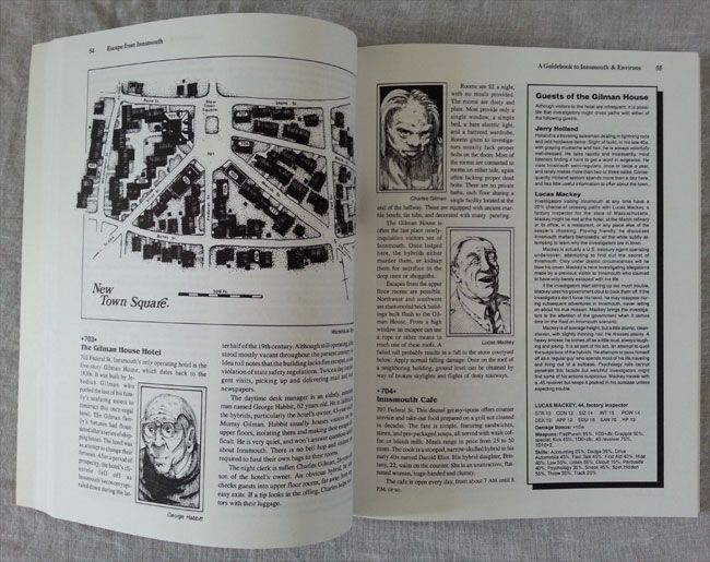 An interior image of the Call of Cthulhu role playing game supplement Escape from Innsmouth by Kevin A. Ross. #RPG