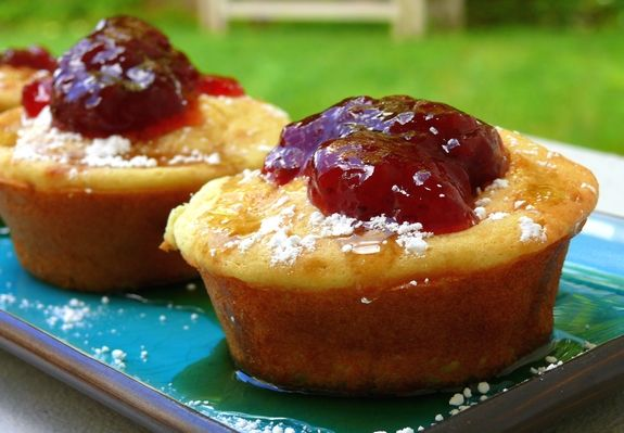 Pancake Souffle Muffins with Spiced Strawberry Pinot Jam | Noble Pig