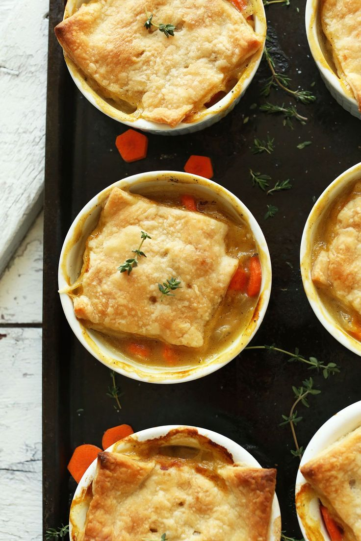 White Bean & Thyme Vegan Pot Pies in just 10 ingredients! Savory, flaky, comforting. From @minimalistbaker.