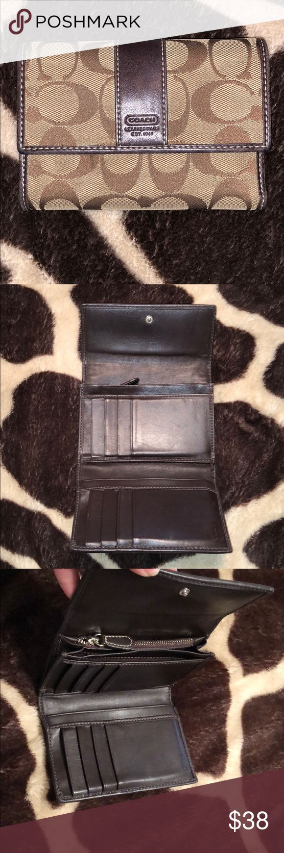 Tan/Brown Coach Wallet 5.5 x 3.5 Coach Wallet in excellent condition Coach Bags Wallets
