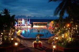 Ultimate Hawaiian luau themed quinceanera reception (rent a pool for venue)